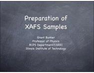 XAFS sample preparation talk.key - Illinois Institute of Technology