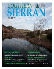 Southern Sierran - Sierra Club - Angeles Chapter