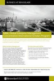 MBA: Global Enterprise Management - Lally School of Management ...