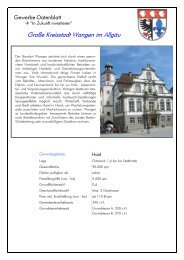 Gewerbedatenblatt - WiR GmbH Landkreis Ravensburg