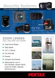 16x ZOOm LENSES - Security Systems - Pentax
