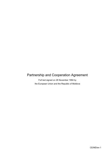 Partnership and Cooperation Agreement