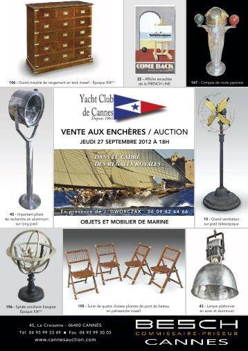 VENTE AUX ENCHÈRES / AUCTION - Besch Cannes Auction