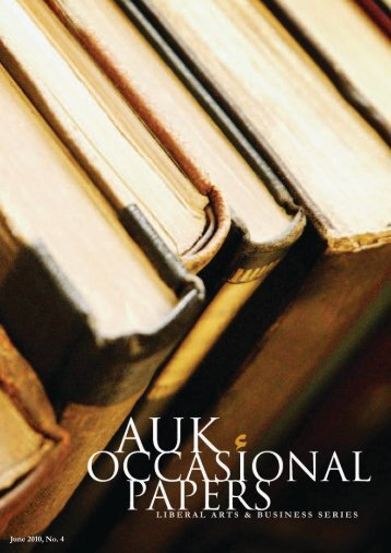 2010 Occasional Papers - AUK