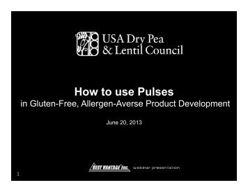 How to Use Pulses in Gluten-Free Product Development - Montana ...