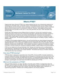 What is PTSD - Womack Army Medical Center