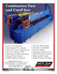Combinataion Plate & Extrusion Saw - Calm Aluminium