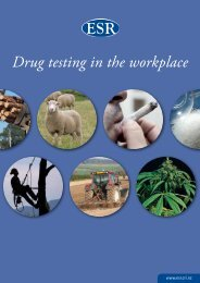 Drug testing in the workplace - Environmental Science & Research