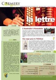 La Lettre n°163, décembre 2010 - Cormery