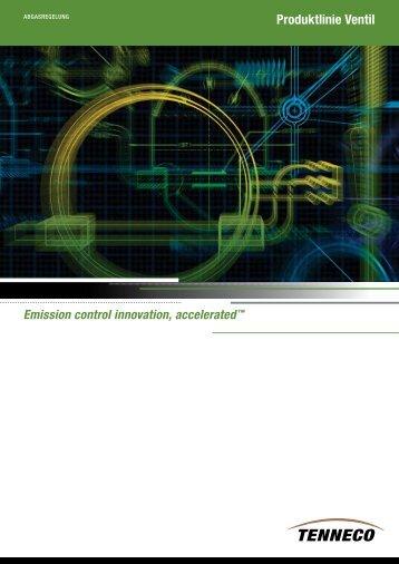 Produktlinie Ventil - Tenneco Inc.
