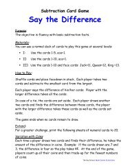 Say the Difference - Key School