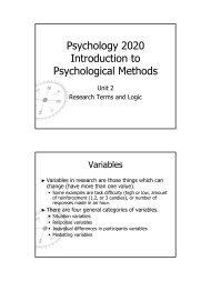 Psychology 2020 Introduction to Psychological Methods