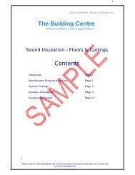 Contents - The Building Centre