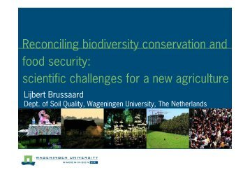 Reconciling biodiversity conservation and food security