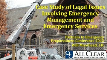 Case Study of Legal Issues Involving Emergency Management and ...