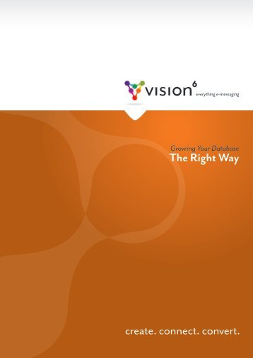 Growing Your Database The Right Way - Vision 6