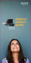 displays product guide - Kavena