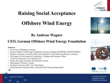 Raising Social Acceptance Offshore Wind Energy - POWER cluster