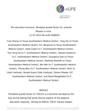 Just Published - UT Southwestern