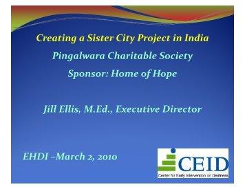 "Establishing a Model Early Intervention ""Sister City"""