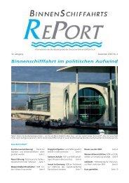 Binnenschifffahrt im politischen Aufwind - Bundesverband der ...