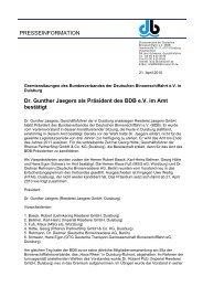 PRESSEINFORMATION Dr. Gunther Jaegers als Präsident des BDB ...