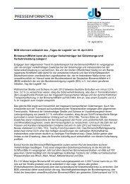 "BDB informiert anlässlich des ""Tages der Logistik"" am 18. April 2013"
