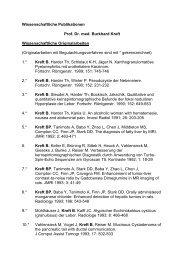 Wissenschaftliche Publikationen Prof. Dr. med. Burkhard Kreft ...