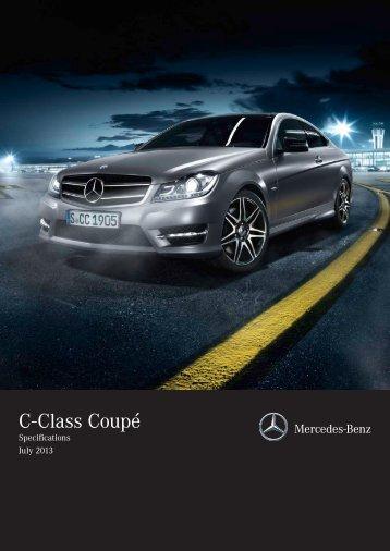 Mercedes-Benz C-Class Coupé Equipment & Specifications