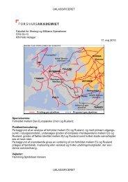 Forholdet mellem Den Europ iske Unioin og Rusland