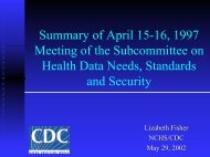 Lizabeth Fisher - National Committee on Vital and Health Statistics