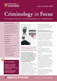 Criminology in Focus - University of Leicester