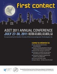 ASET 2011 ANNUAL CONFERENCE JULY 27-30, 2011 HILTON ...
