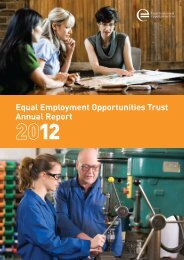 2012 Annual Report - Equal Employment Opportunities Trust