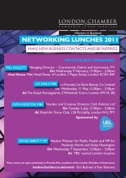 Networking, London Chamber - London Chamber of Commerce and ...