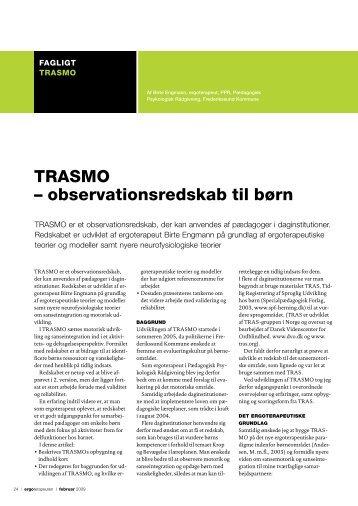 TRASMO – observationsredskab til børn