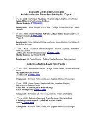 concours concours lionel-groulx 2005-2006 gagnants - Société des ...