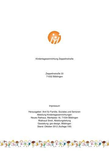 Konzeption der Einrichtung - Kitas in Baden-Württemberg