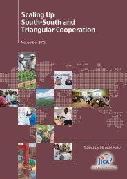 Scaling Up South-South and Triangular Cooperation (JICA-RI)