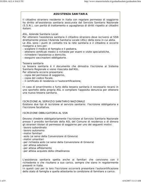 Stranieri in Italia - Il portale dei nuovi cittadini - USMRA-SI