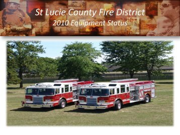 Equipment Status - St. Lucie County Fire District