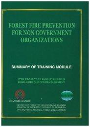 Forest Fire Prevention for Non Government Organizations - ITTO