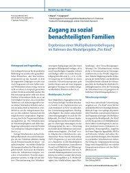 Zugang zu sozial benachteiligten Familien