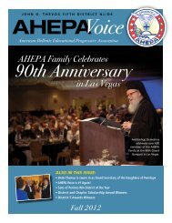 90th Anniversary - AHEPA District 5