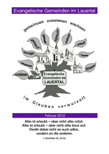 Februar 2012 - Evangelisch-Lutherische Kirchengemeinden im ...