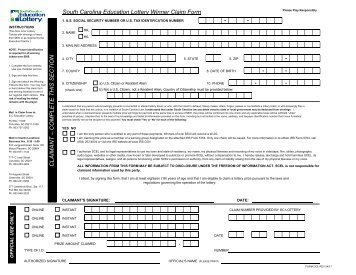 nj lottery claim form Winners Claim Form - Wisconsin Lottery