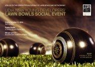 LAWN BOWLS SOCIAL EVENT - UDIA