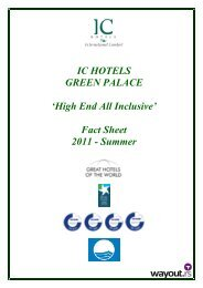 IC HOTELS GREEN PALACE 'High End All Inclusive' Fact ... - Wayout