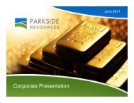 Corporate Presentation - Parkside Resources Corporation