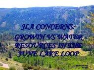 June Lake Advocates Water Presentation - Mono County